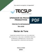 Nectar de Tuna Culminacion 2019