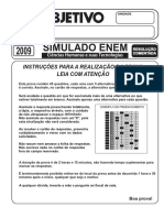 Simulado Objetivo Ciências Humanas e Suas Tecnologias 2009 Resolução Comentada