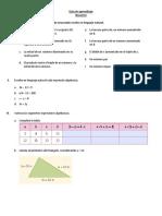 Escribe en Lenguaje Algebraico Cada Enunciado Escrito en Lenguaje Natural
