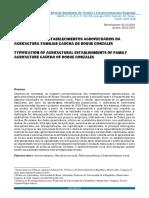 TIPIFICAÇÃO DOS ESTABELECIMENTOS AGROPECUÁRIOS DA AGRICULTURA FAMILIAR GAÚCHA DE ROQUE GONZALES