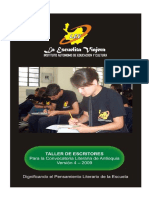 ANTOLOGÍA LITERARIA, Población ANTIOQUIA, Versión 4-2009, Taller de Escritores Para La Convocatoria Literaria
