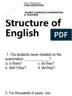 Structure of English