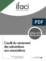 Audit Du Versement de Subventions Aux Associations