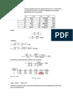 Realice Una Prueba de Significancia Para La Relación Lineal Entre X e Y Utilizando El Coeficiente de Correlación Muestral r