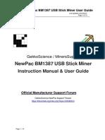 NewPac BM1387 USB Setup Guide v0.3b