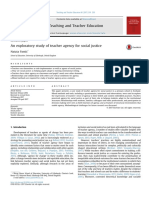 An Exploratory Study of Teacher Afency for Social Justice
