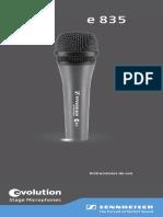 MANUAL Microfono Sennheiser E835S