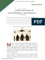 Le modèle états-unien de gouvernement « souverainiste », par Manlio Dinucci