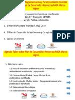 AGENDA Plan de Desarrollo y Marco Lógico
