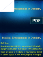 Medical Emergenceies in Dental Practice