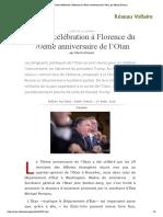 Contre-célébration à Florence du 70ème anniversaire de l'Otan, par Manlio Dinucci