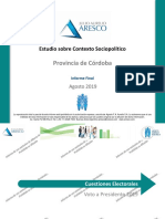 Informe Final Córdoba - Agosto 2019 ALBERTO FERNANDEZ