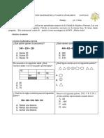 Prueba de Educación Matemática Cuarto Año Básico Patrones