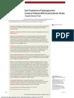 Página 1 Tratamento intensivo versus padrão de hiperglicemiae resultado funcional em pacientes com acidente vascular cerebral isquêmico agudo