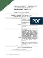 15. Becas Para El Fortalecimiento y Transferencia de Capacidades y Conocimientos de Emprendimientos Culturales