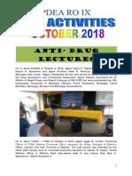 Ro 9 October 2018 Peci Activities