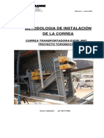 200-CV-003 Belt Instalation Procedure (Spanish)