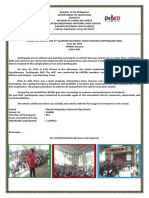 Narrative Report of 2nd NSED 6-20-19