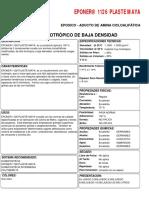 Ficha técnica de plaste maye