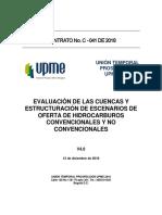 EVALUACIÓN DE LAS CUENCAS Y ESTRUCTURACIÓN DE ESCENARIOS DE OFERTA DE HIDROCARBUROS CONVENCIONALES Y NO CONVENCIONALES