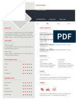 Colorblock Resume
