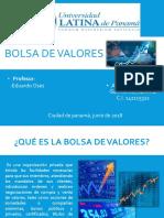 Bolsa de Valores - Finanzas I