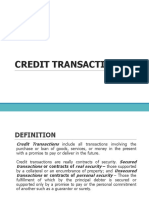 Law on credit transaction
