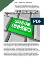 "Ganhar Bufunfa Online ""Google Play Programos"
