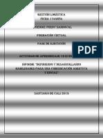 Informe Definiendo y Desarrollando Habilidades Para Una Comunicación Asertiva y Eficaz