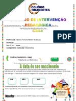 Intervençao Pedagógica 4º Ano Fabiana i