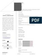 Appleseed resume template