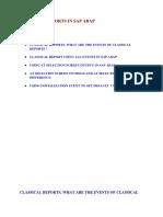 Classical Reports in Sap ABAP