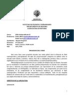 Programa II 2018) Licenciatura