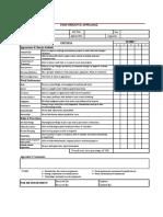 HK Appraisal Form