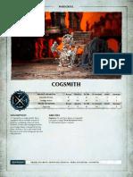 Cogsmith AOS warscroll
