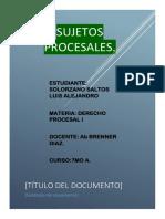 Derecho Procesal Alejandro Solorzano