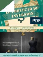 El Proyecto de Inversion