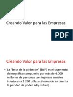 CREANDO VALOR