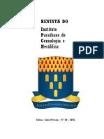 Cópia de REVISTA DO IPGH, 20ª ed. Instituto Paraibano de Genealogia e Heráldica, 2018.