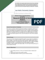 Research in Social Studies