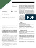 Teste Imunocromatográfico de Um Passo Para a Detecção Qualitativa de Metanfetamina Na Urina Humana