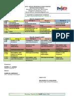 HUMSS MidTerm Schedule 2019