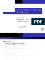 Linearization Theorems, Koopman Operator and Its Application