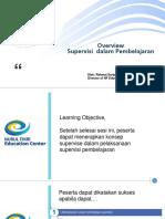 Overview Supervisi Dalam Pembelajaran