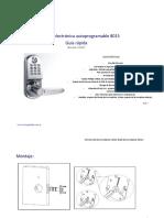 Manual Cerradura Electronica Autonoma Locstar