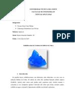 Ensayo de Cristales de Sulfato de Cobre (II)-1