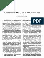 García-Barriga, Hernando. El Profesor Richard Evans Schultes