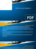 Statistics and Probability Lecture 11