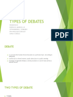 Types of Debates