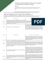 Thinking Cap 21 CFR Assessment